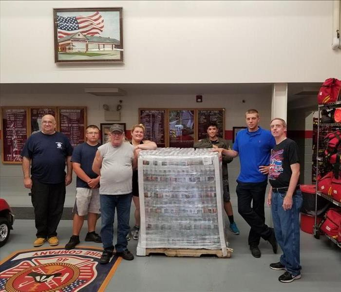 Jefferson Fire Company 1 Water Pallet Donation